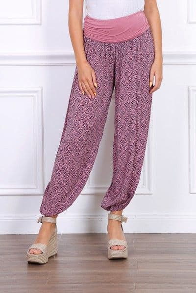 PRINT TROUSER IN PINK