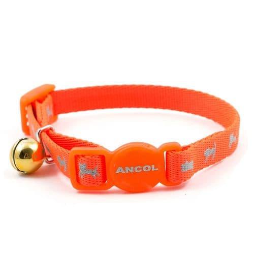 Ancol Hi-Vis Orange Safety Kitten Collar