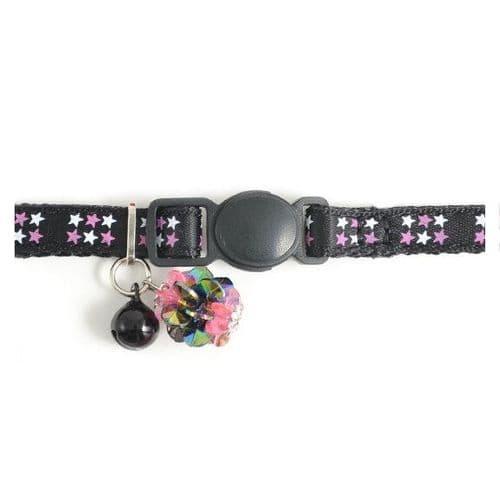 Ancol Kitten Luxury Star Black Collar