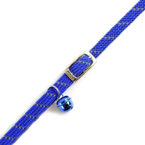 Ancol Reflective Blue Soft Weave Cat Collar