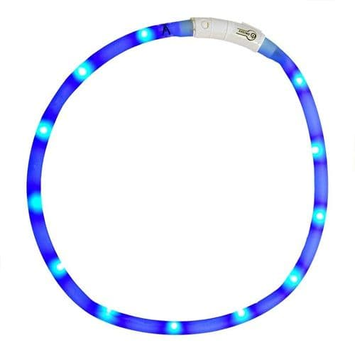 Ancol USB Rechargeable Flashing Blue Dog Collar