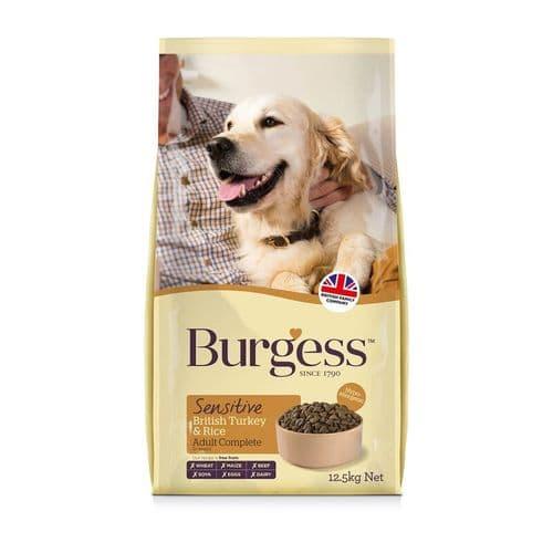 Burgess Sensitive Turkey & Rice Dog Food 12.5 kg