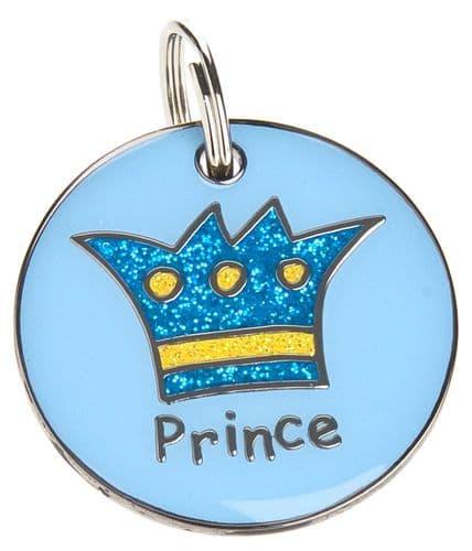Custom Text Pet ID Tag Prince ID Tag