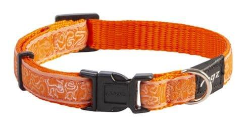 Dog Collar Fancy Dress Dog Collar - Orange Doodle