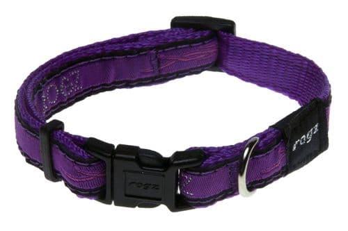 Dog Collar Rogz Purple Chrome Dog Collar.