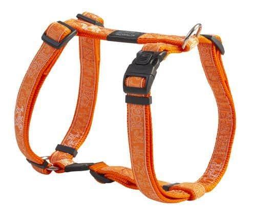 Dog Harness Rogz H-Harness - Orange Doodle