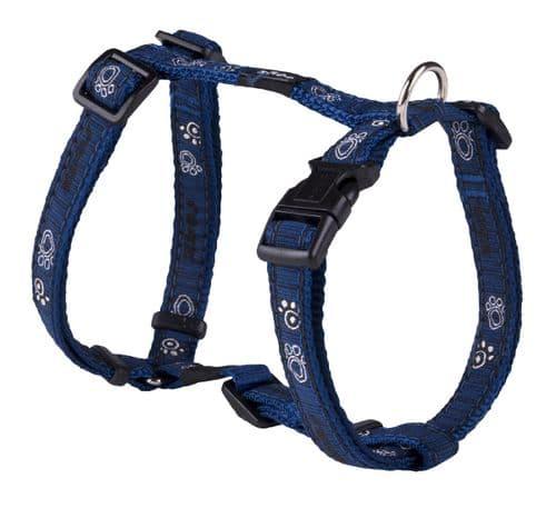 Dog Harness  Rogz Navy Paw Dog H-Harness