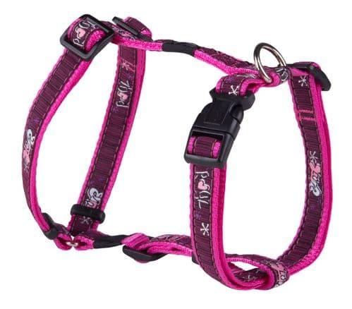 Dog Harness Rogz Pink Love  H-Harness