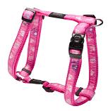 Dog Harness Rogz Pink Paws Dog H-Harness