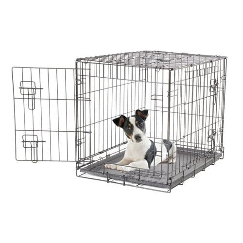 Dogit 2 Door Black Dog Crate   Pets Depot
