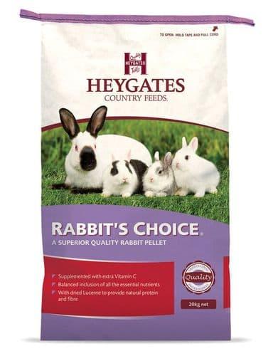 Heygates Rabbit Choice Pellets 20 Kg
