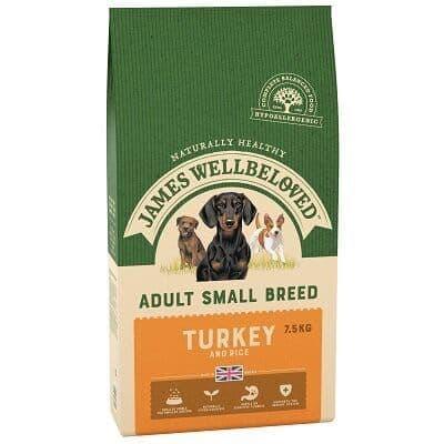 James Wellbeloved Small Breed Turkey & Rice Dog Food 7.5kg