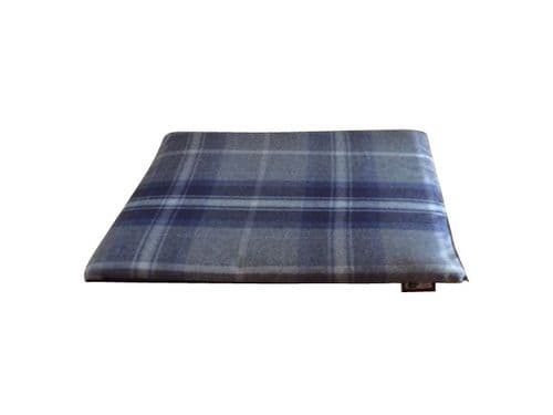 Navy Blue St Ives Check Quality Cage Mats