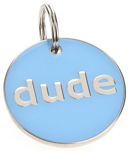 Pet ID Tag Blue Dude ID Tag