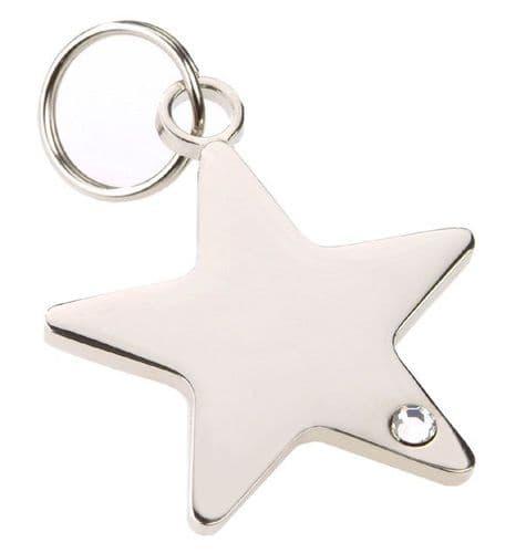 Pet ID Tag Rhinestone Star  ID Tag