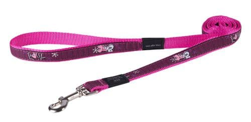 Rogz Pink Love Classic Dog Lead