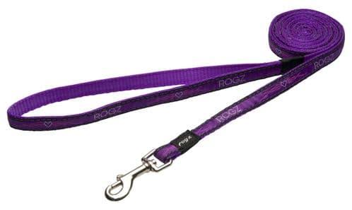 Rogz Purple Chrome Classic Dog Lead