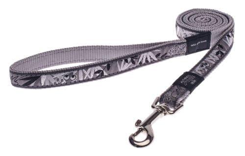 Rogz Silver Gecko Classic Dog Lead