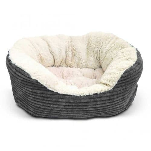 Rosewood 40 Winks Grey Cord Jumbo Bed 64cm