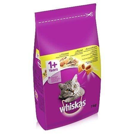 Whiskas Dry 1+ Chicken Cat Food 7kg