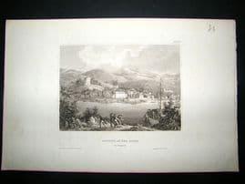 Hungary:C1840 Steel Engraving, Battina, Antique Print.