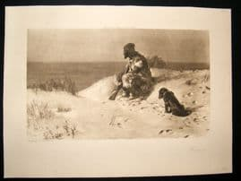 1901 Antique Print (Robinson) Crusoe by Dollman
