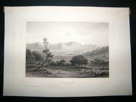 Africa:C1840 Steel Engraving, Niger, Antique Print.