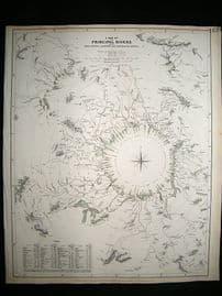 A Map of Principal Rivers: 1834 Antique Map. SDUK