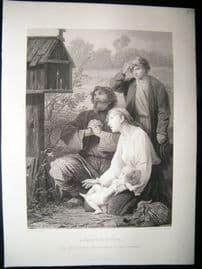 A Shrine In Russia 1873 Steel Engraving, Art Journal