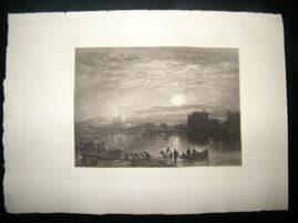 A. Brunet Debaines after J. M. W. Turner 1885 Mezzotint. St. Denis, France