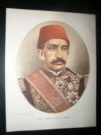 Abdul Hamid II. Sultan of Turkey C1880 Chromolithograph Portrait