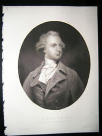 Abraham Hume 1854 Steel Engraving. Antique Portrait Print