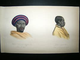 Abyssinia Natives: 1855 Hand Col Print. Prichard
