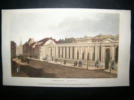 Ackermann 1809 Hand Col Print. Carleton House, London