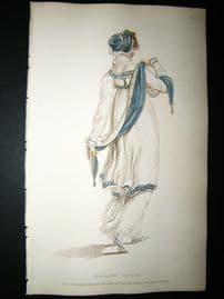 Ackermann 1809 Hand Col Regency Fashion Print. Walking Dress 1-29