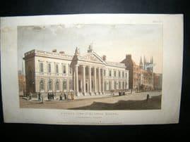 Ackermann 1810 Hand Col Print. India House, London