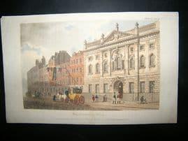 Ackermann 1811 Hand Col Print. Ironmonger Hall, London