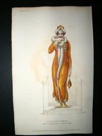 Ackermann 1811 HC Regency Fashion Print. Walking Dress or Carriage Costume 5-11