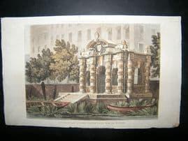 Ackermann 1814 Hand Col Print. Buckingham Stair Water Gate, London