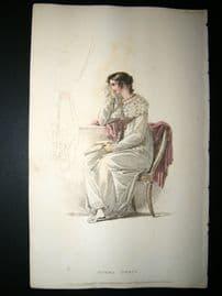 Ackermann 1814 Hand Col Regency Fashion Print. Opera Dress 11-30