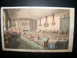 Ackermann 1816 Hand Col Print. Mr Ross's Room, Bishopgate, London