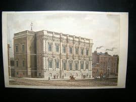 Ackermann C1810 Hand Col Print. Banqueting House, London
