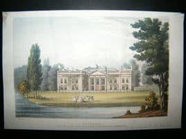 Ackermann C1815 Hand Col Print. Avington Park, Hampshire, UK