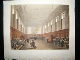 Ackermann History of Eton 1816 Hand Col Print. Eton School Room