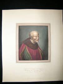 Ackermann History of Oxford 1815 Hand Col Portrait. Humphrey, Duke of Gloucester