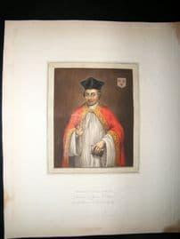 Ackermann History of Oxford 1815 Hand Col Portrait. Robert Egglesfield
