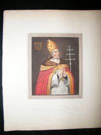 Ackermann History of Oxford 1815 Hand Col Portrait. Thomas Rotherham