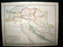 Adriatic, Croatia, etc. Vindelicia Et Illyricum: 1826 Antique Map. Butler