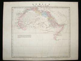 Africa: 1864 Antique Map, Aaron Arrowsmith