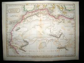 Africa Antiqua: 1826 Antique Map. Butler